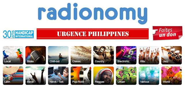 Radionomy se mobilise face à la catastrophe aux Philippines