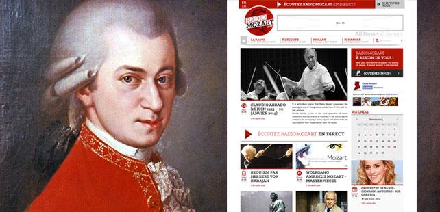 Un portail d'informations pour le site de Radio Mozart