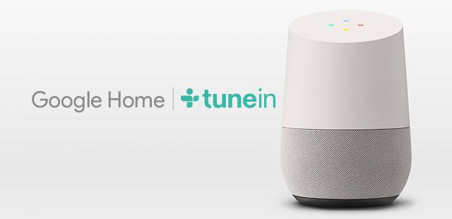 tunein est sur google home actualit s des radios digitales. Black Bedroom Furniture Sets. Home Design Ideas