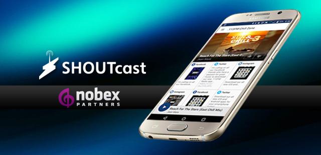 Partenariat entre SHOUTcast et Nobex Partners