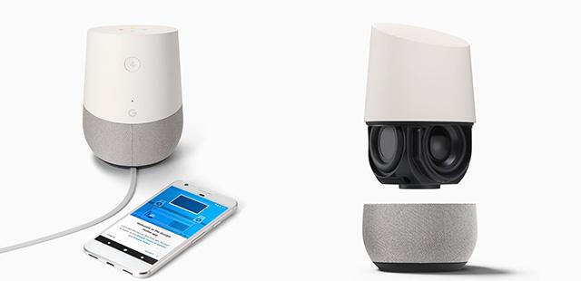 Lancée à 129 dollars aux USA, Google Home devrait être commercialisée dans quelques mois en France.