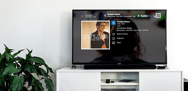 Radioline est désormais accessible sur la TV belge Promixus