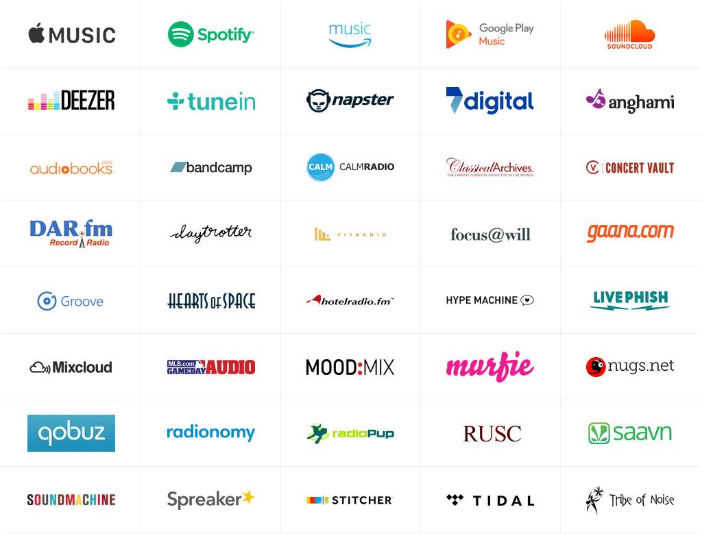 Avec ses 40 services intégrés, le Sonos One offre aux utilisateurs un assistant vocal pour contrôler toute une discothèque en ligne et écouter près de 100 000 radios digitales.