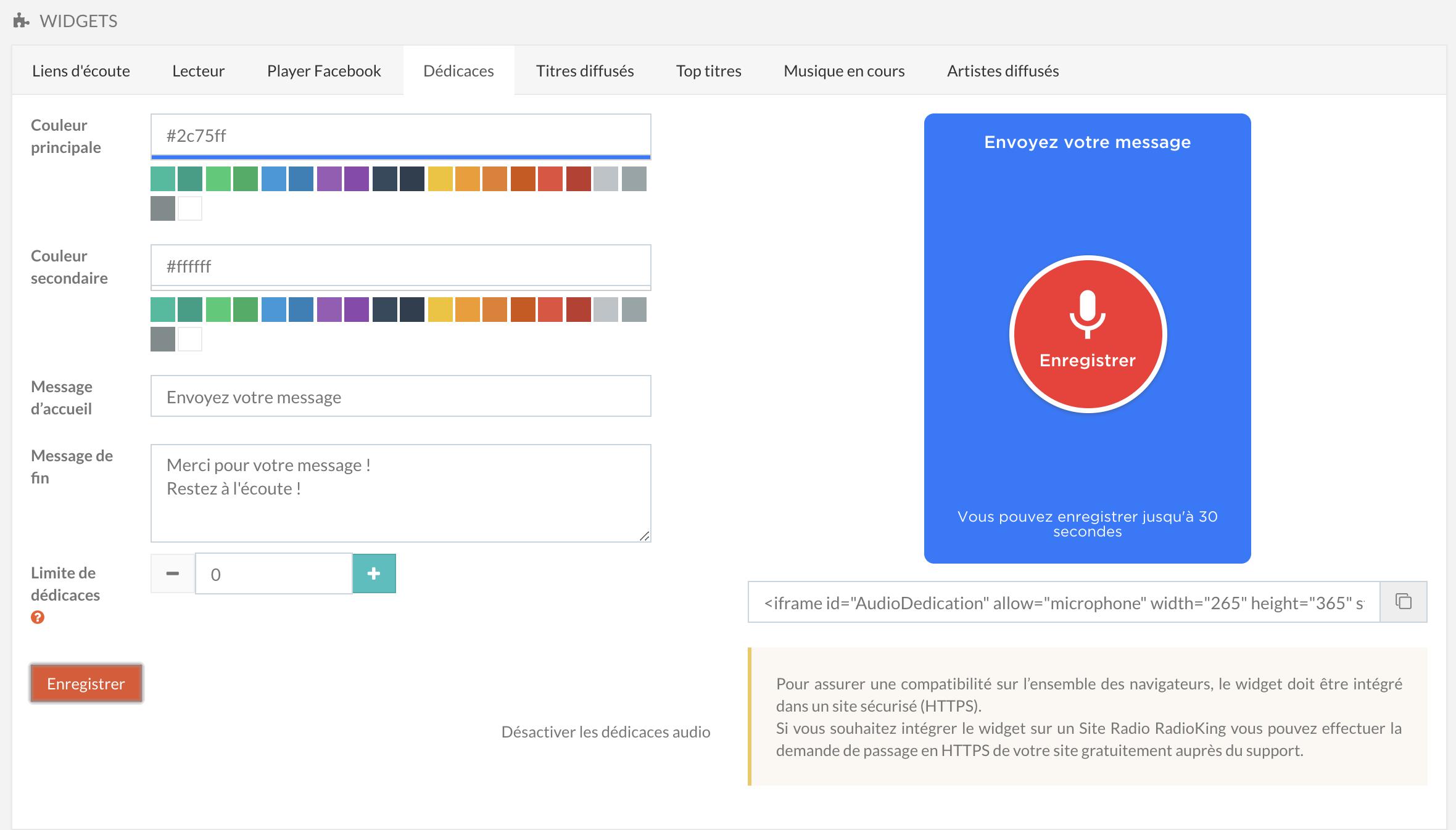 RadioKing propose un nouveau Widget Dédicace pour renforcer la proximité et favoriser les interactions avec les auditeurs.