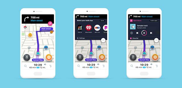 Waze intègre désormais un lecteur audio