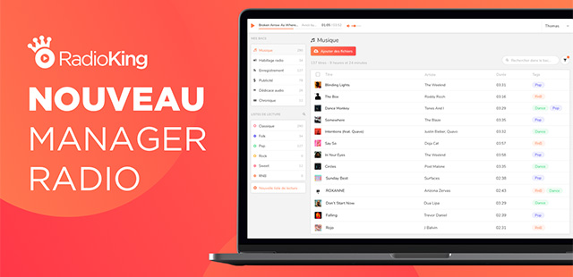 RadioKing dévoile une nouvelle version de son Manager Radio !