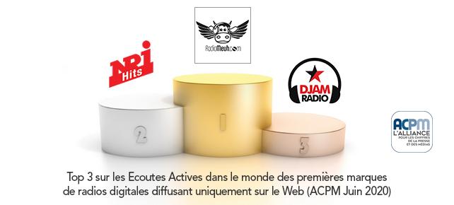Classement ACPM des radios digitales en Juin 2020